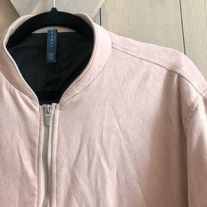 Zara man suede bomber jacket worn once xxl zip